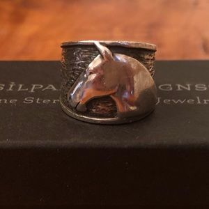 RARE Silpada Sterling Equestrian Horse Head Ring